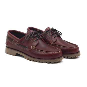 chaussure bateau crampons cuir bordeaux jules & jenn