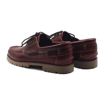 vue arriere chaussure bateau crampons cuir bordeaux jules & jenn