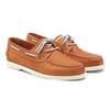 chaussures bateau cuir orange jules & jenn