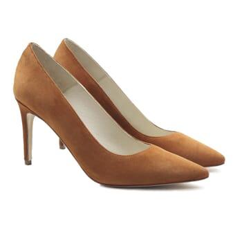 escarpins classiques cuir daim camel jules & jenn