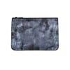 pochette cuir gris moyen modele metallise jules & jenn