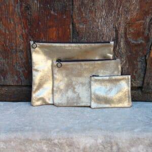 vue multiproduits pochette dore metallise grand modele jules & jenn
