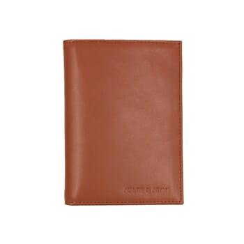 portefeuille classique cuir brique jules & jenn