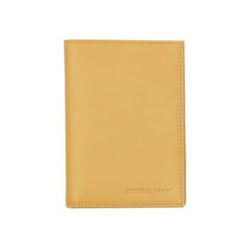 portefeuille classique cuir jaune jules & jenn