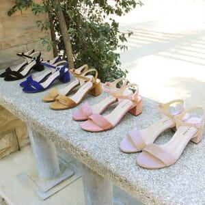 vue multiproduits sandales à talon cuir daim beige jules & jenn