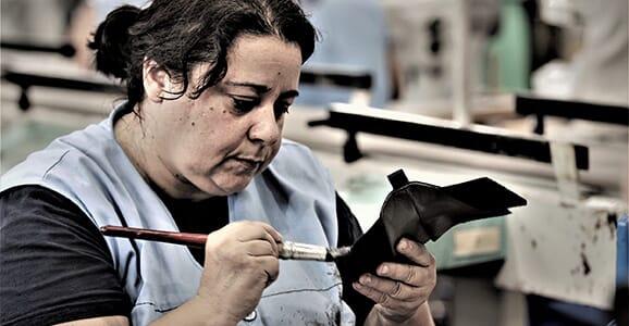 L'atelier de fabrication de chaussures femme, Portugal (São Roque)