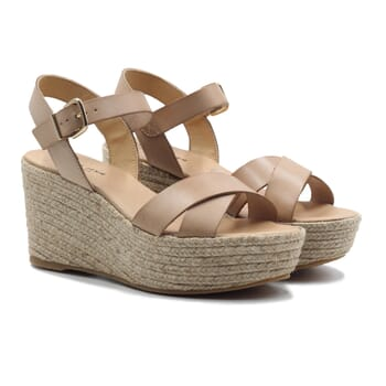 sandales compensees cuir beige jules & jenn