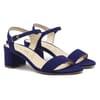 sandales moyen talon cuir daim bleu jules & jenn