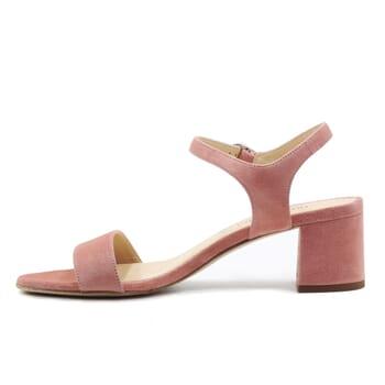 vue interieur sandales moyen talon cuir daim rose jules & jenn