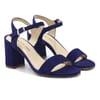 sandales à talon cuir daim bleu jules & jenn