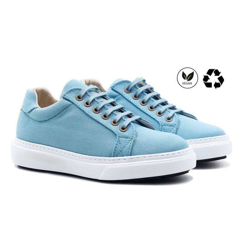 baskets recyclees femme bleu clair jules & jenn