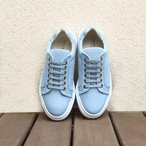 vue posee baskets recyclees femme bleu clair jules & jenn