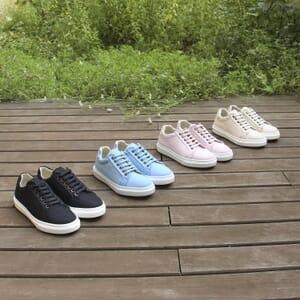 vue multiproduits baskets recyclees femme bleu clair jules & jenn