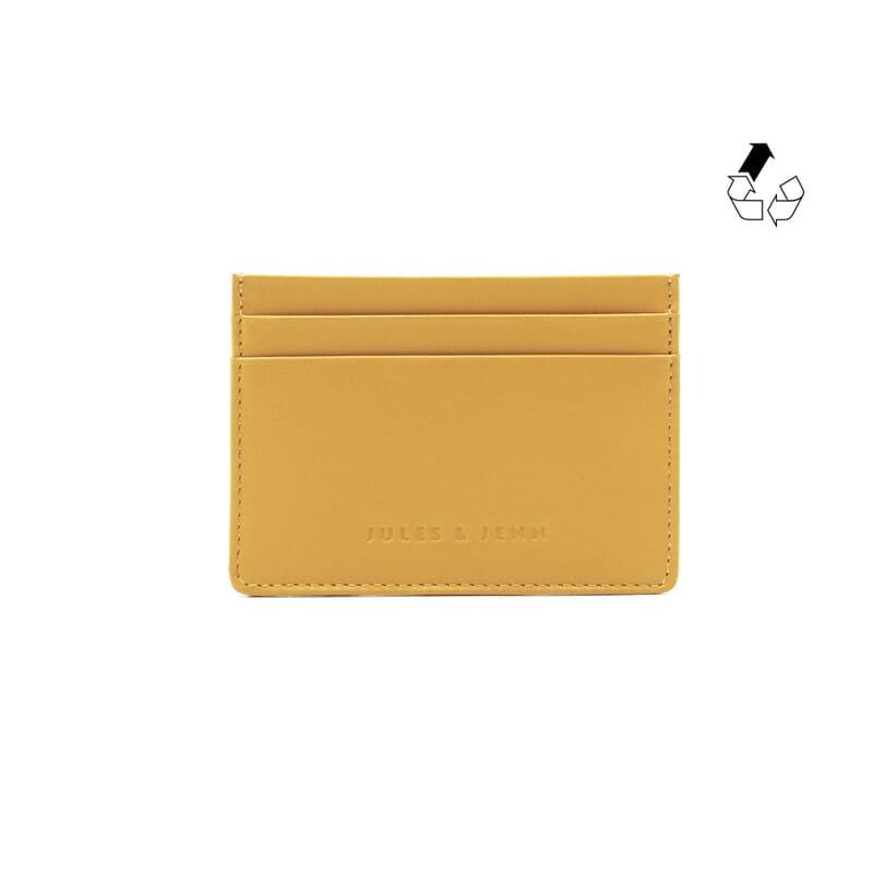 Porte-carte cuir upcyclé moutarde jules & jenn
