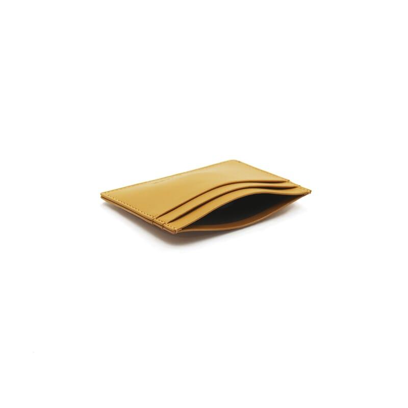 vue intérieure Porte-carte cuir upcyclé moutarde jules & jenn