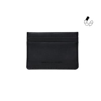 Porte-carte cuir upcyclé noir jules & jenn