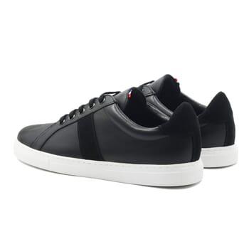 vue arrière baskets Made in France cuir noir JULES & JENN