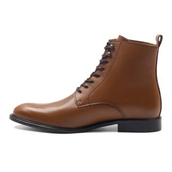 vue intérieur boots à lacets cuir cognac jules & jenn