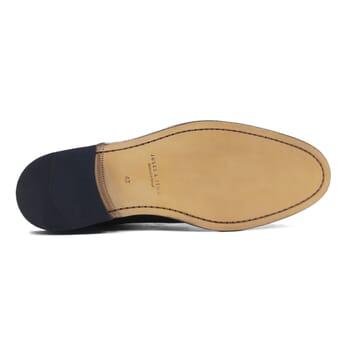 vue dessous boots à lacets cuir cognac jules & jenn