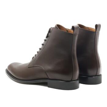 vue arrière boots à lacets cuir marron jules & jenn