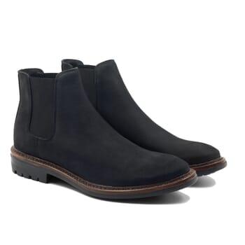 vue face chelsea boots basse cuir nubuck noir jules & jenn
