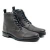 vue face rangers boots cuir graine gris jules & jenn