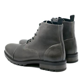 vue arriere rangers boots cuir graine gris jules & jenn