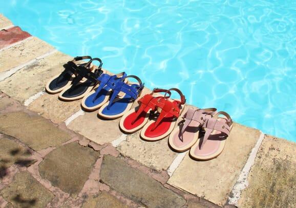 les sandales tropeziennes