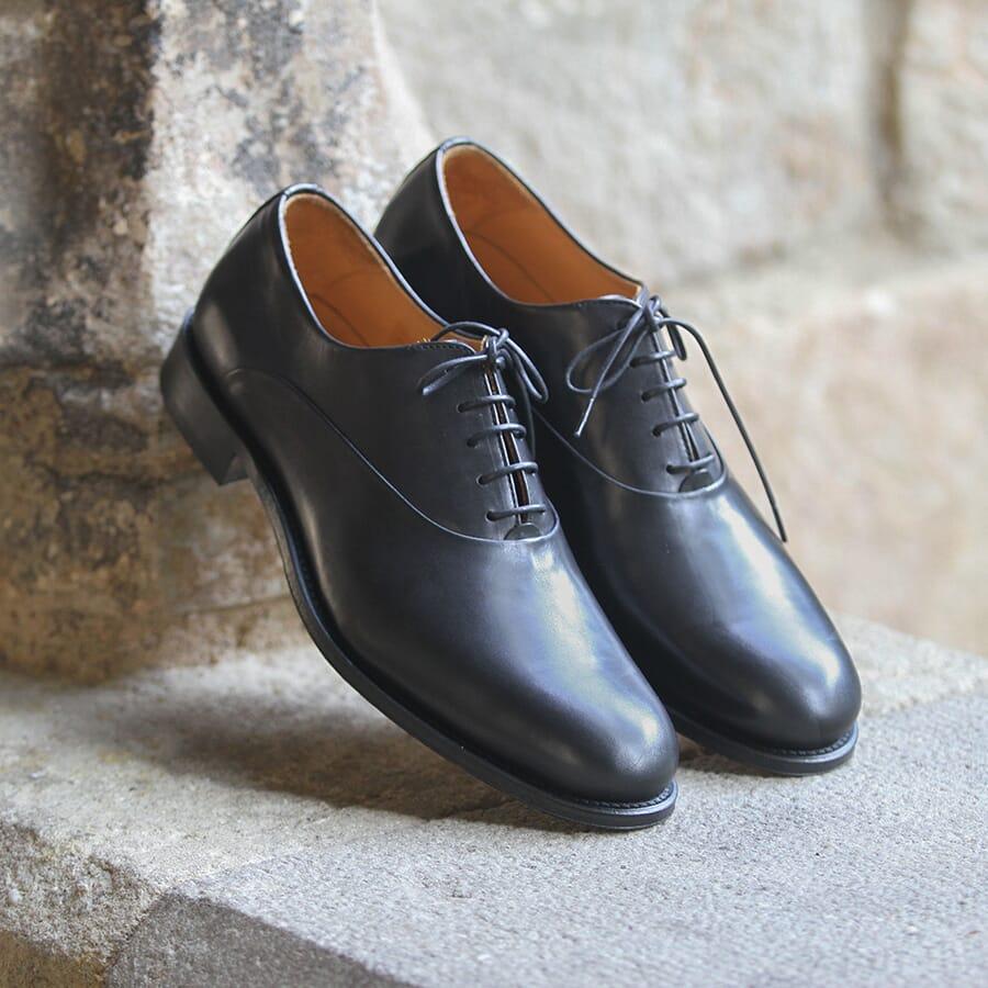 Richelieu cuir noir