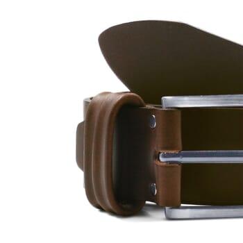 gros plan ceinture casual cuir marron jules & jenn