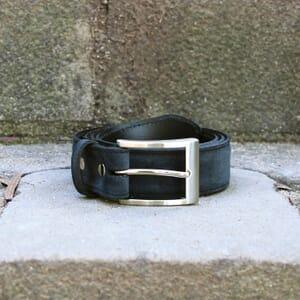 vue posée ceinture classique cuir daim bleu jules & jenn