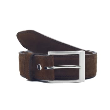 vue face ceinture classique cuir daim marron jules & jenn