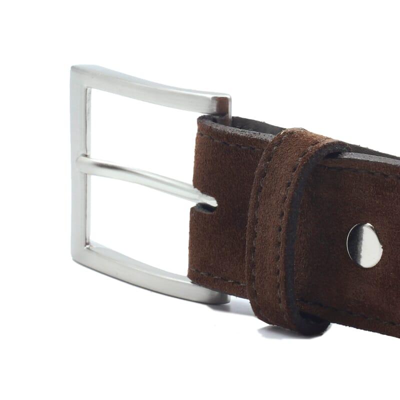 vue boucle ceinture classique cuir daim marron jules & jenn