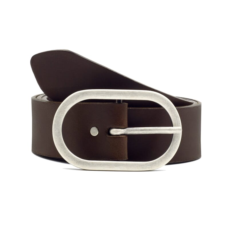 ceinture large cuir marron JULES & JENN