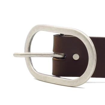 vue boucle ceinture large cuir marron JULES & JENN