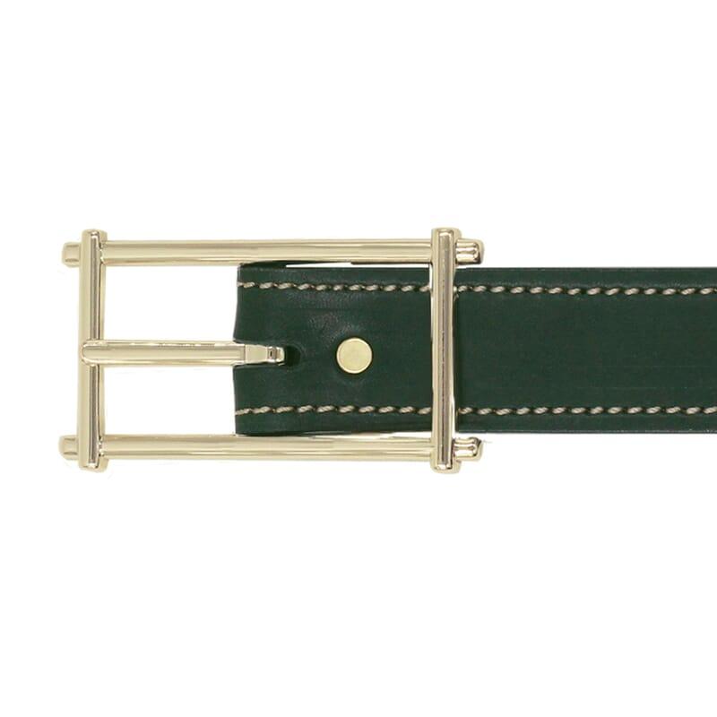 vue boucle ceinture mademoiselle cuir vert jules & jenn