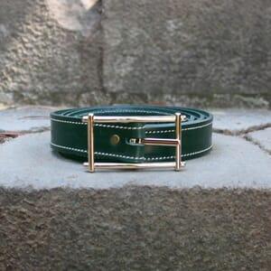 vue posée ceinture vert cuir mademoiselle jules & jenn