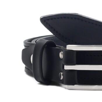 gros plan ceinture new york cuir noir jules et jenn