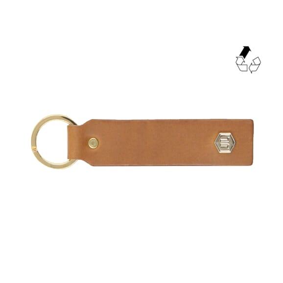 Pochette enveloppe cuir upcyclé grainé camel