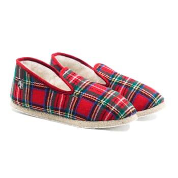 charentaises ecossais rouge jules & jenn