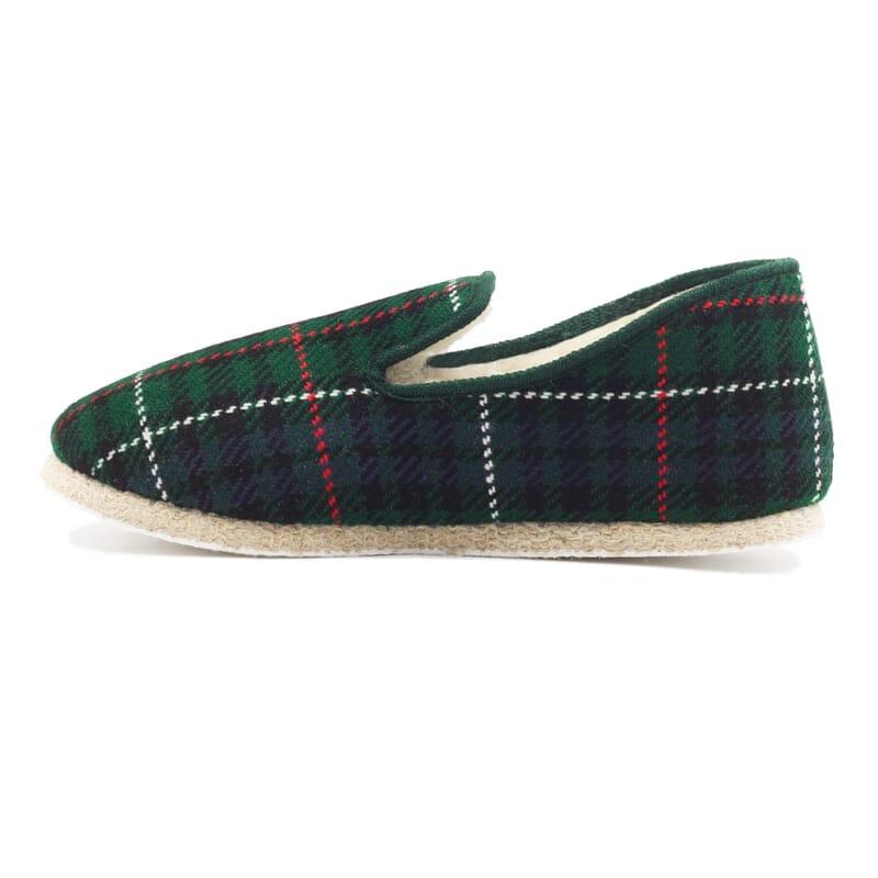 vue intérieure charentaises ecossais vert jules & jenn