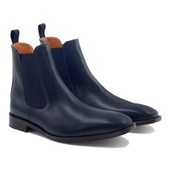 chelsea boots cuir bleu JULES & JENN