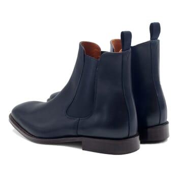 vue arrière chelsea boots cuir bleu JULES & JENN