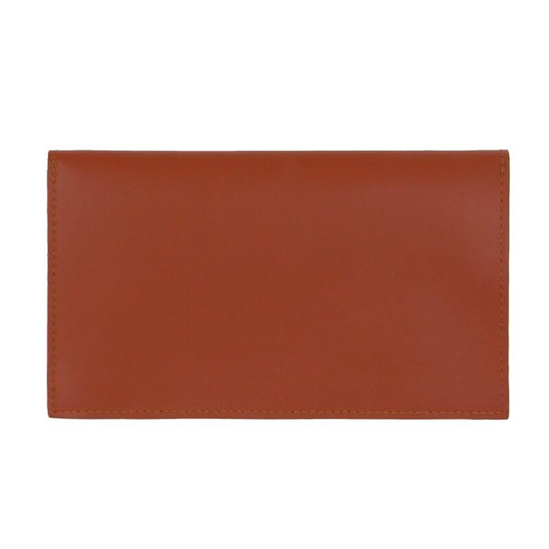 vue arrière pochette enveloppe cuir brique JULES & JENN