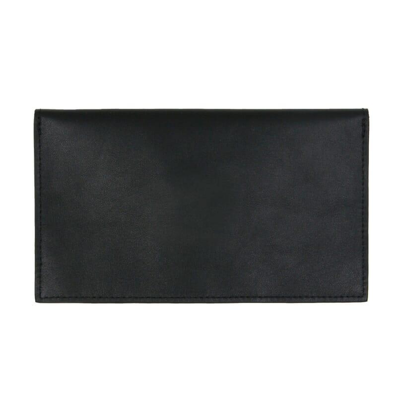 vue arrière pochette enveloppe cuir noir JULES & JENN