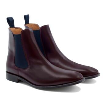 chelsea boots cuir bordeaux et bleu JULES & JENN