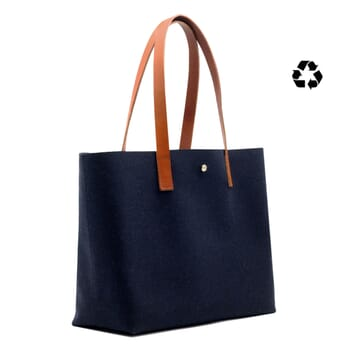 sac cabas drap de laine bleu JULES & JENN