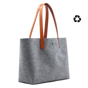 sac cabas drap de laine gris JULES & JENN