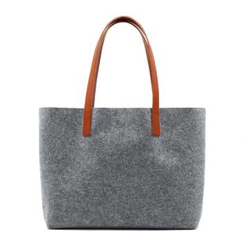 vue dos sac cabas drap de laine gris JULES & JENN