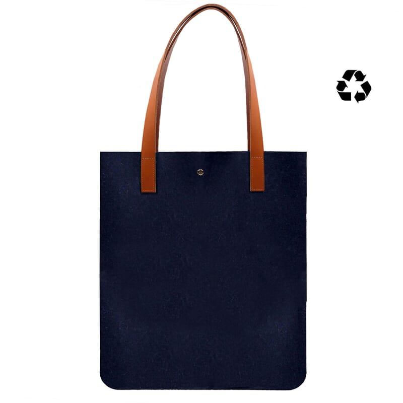 sac cabas ultra-fin drap de laine bleu JULES & JENN